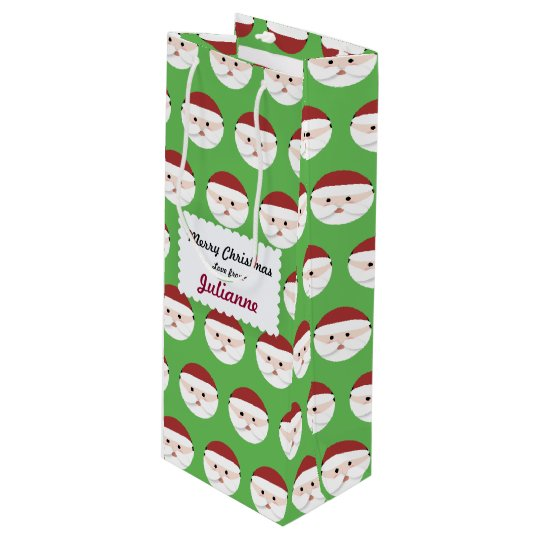 Christmas Santa Claus Wine Gift Bag