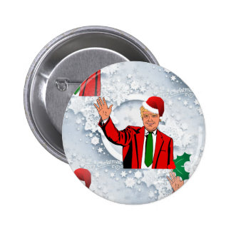 christmas santa donald trump 6 cm round badge