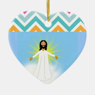 Christmas Santa Faith Love Peace Office Destiny Ceramic Heart Decoration
