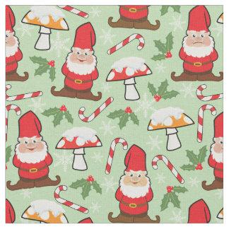 Christmas Santa Gnomes Design Fabric