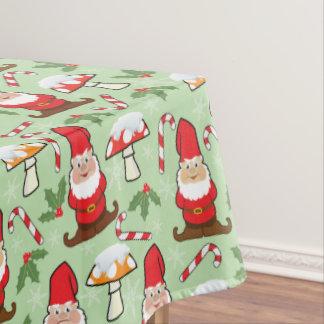 Christmas Santa Gnomes Design Tablecloth