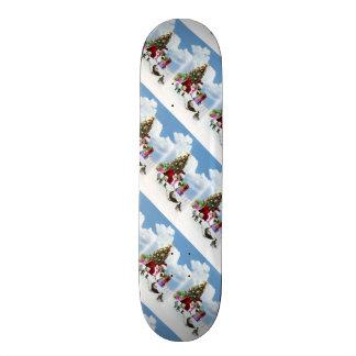 Christmas Santa Goose And Ducks Custom Skateboard