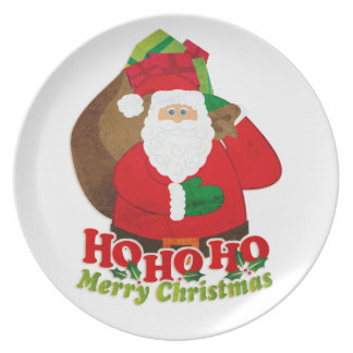 Christmas Santa Ho Ho Ho plate