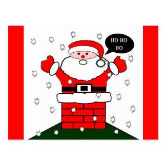 Christmas Santa Ho Ho Ho Postcard