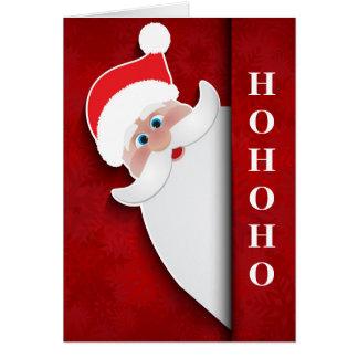 """Christmas Santa """"HoHoHo"""" Card"""