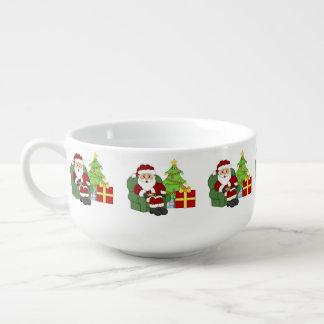 Christmas Santa Holiday soup mug