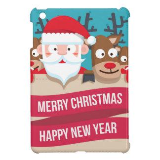 Christmas Santa Reindeer Cute Cartoon Gift Cover For The iPad Mini