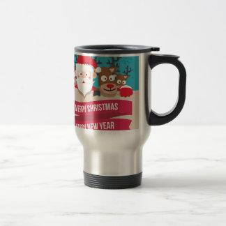 Christmas Santa Reindeer Cute Cartoon Gift Travel Mug