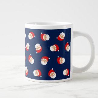 Christmas Santa Simple Blue Beautiful Pattern Cool Large Coffee Mug