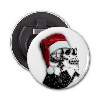 Christmas Santa Skeleton Design Bottle Opener