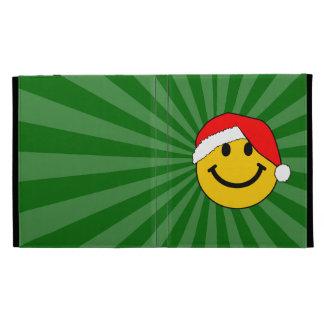 Christmas Santa Smiley Face iPad Folio Covers
