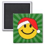 Christmas Santa Smiley Face Refrigerator Magnet