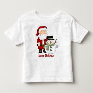 Christmas, Santa, snowman, t-shirt
