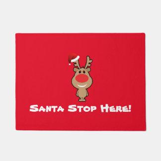 Christmas Santa Stop Here Doormat