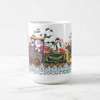 Christmas Santa Train Classic White Coffee Mug
