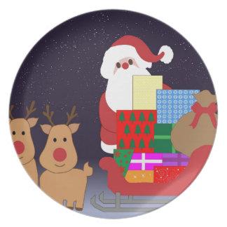 Christmas Santa Winter Peace Love Holiday Destiny Plate