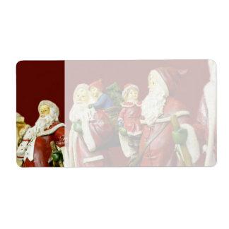Christmas Santas Saint Nick Holiday Gifts Shipping Label