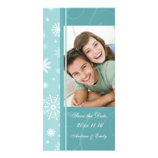 Christmas Save the Date Wedding Photo Cards