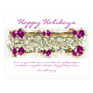 Christmas sayings and Xmas Corporate thanks Postcard