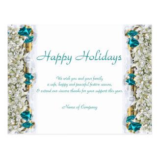 Christmas sayings and Xmas Corporate thanks Postcards