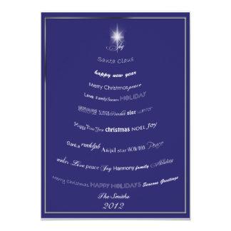 Christmas Sayings Tree Greeting Card 13 Cm X 18 Cm Invitation Card