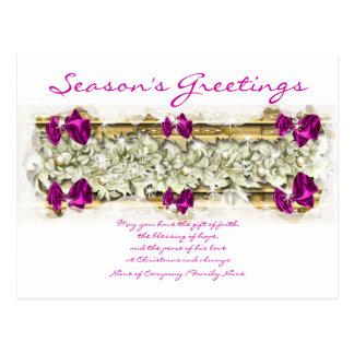 Christmas sayings Xmas Corporate thanks Postcard