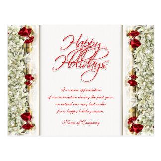 Christmas sayings Xmas Corporate thanks Post Card