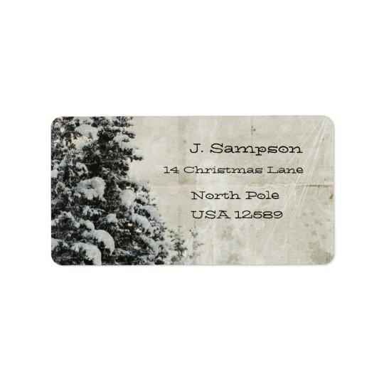 Christmas scene address labels