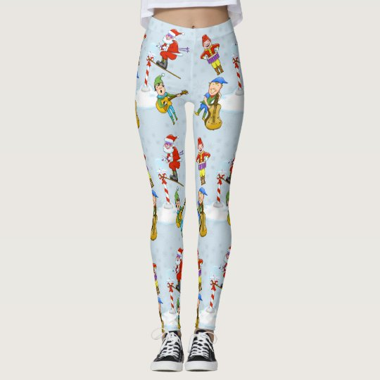 Christmas Scene Holiday Leggings
