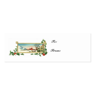 Christmas Scene-Vintage Gift Card Pack Of Skinny Business Cards