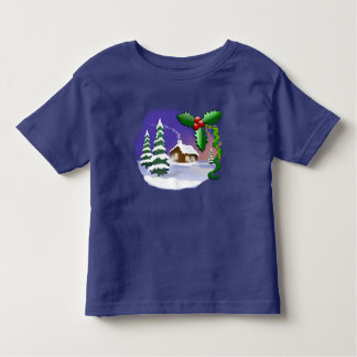 Christmas Scene Winter Landscape Festive T-Shirt