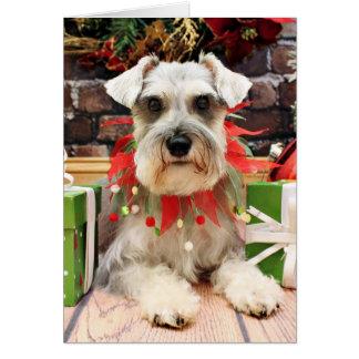 Christmas - Schnauzer - Abby Card