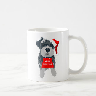 Christmas Schnauzer Dog Santa Hat Mug