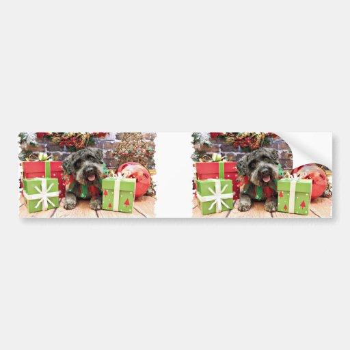 Christmas - Schnoodle - Dexter Bumper Stickers