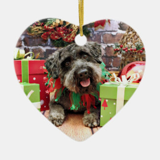 Christmas - Schnoodle - Dexter Ceramic Ornament
