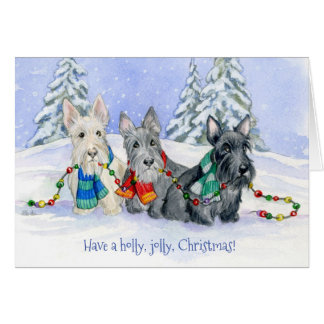 Christmas Scottie Trio Card