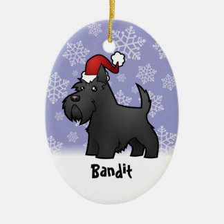 Christmas Scottish Terrier add your pets name Ornament