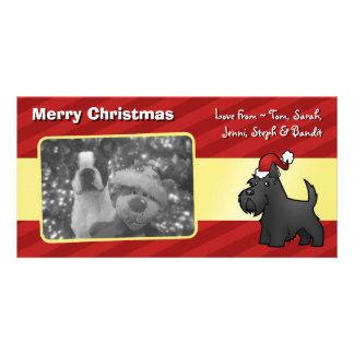 Christmas Scottish Terrier Customised Photo Card