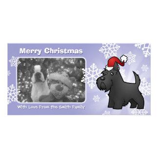 Christmas Scottish Terrier Customized Photo Card