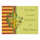 Christmas Scroll Fleur de lis Invites