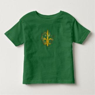 Christmas Scroll Fleur de lis Toddler T-shirt