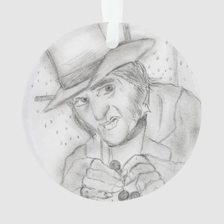 Christmas - Scrooge in Black and white Ornament