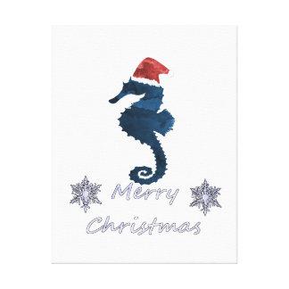 Christmas Seahorse Canvas Print