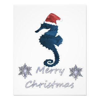 Christmas Seahorse Photo Print
