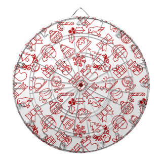 Christmas Seamless Pattern Background Dartboard