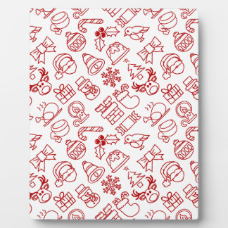 Christmas Seamless Pattern Background Plaque