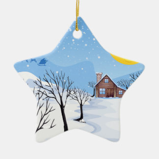 Christmas Season Ceramic Star Decoration