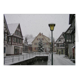 Christmas season in the Black Forest Card