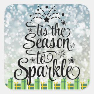 Christmas Season to sparkle glitter snow stickers