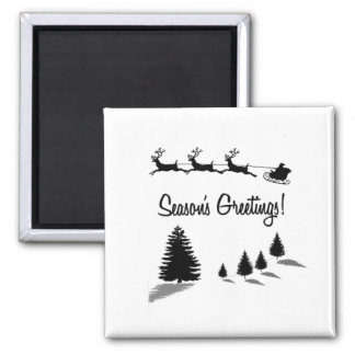 Christmas Season's Greetings Santa Refrigerator Magnet